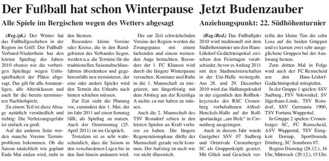 Pressebericht 19.12.2010