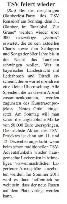 Presse 31.10.2010